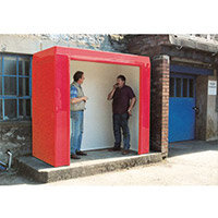Waiting Shelter -No Windows Red L:2400 W:2400 H:2300mm