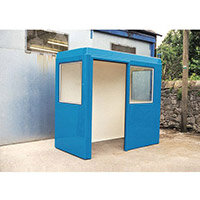 Waiting Shelter  With Windows Blue L:2400 W:1500 H:2250mm