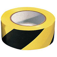 Self-Adhesive Safety Tapes Black And Yellow Size 50mm x 33m Packs of 1