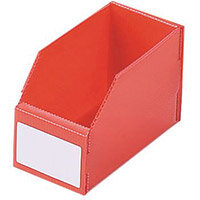 Twin Walled Small Part Storage Polypropylene Bins HxWxL 100x75x150mm Red Pack of 50