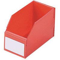 Twin Walled Small Part Storage Polypropylene Bins HxWxL 100x100x300mm Red Pack of 50