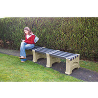 2 Person Backless Bench Sandstone L1250mm
