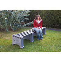 2 Person Backless Bench Pale Granite L2050mm