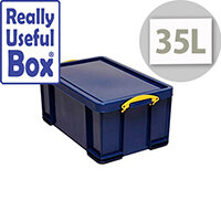 Really Useful Box 35L Capacity Solid Blue