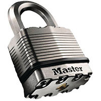 50mm Long Shackle Laminated Steel Padlock Titanium Reinforced