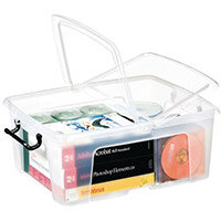 Strata Smart Box - 24L Transparent Boxes with Secure Folding Lids