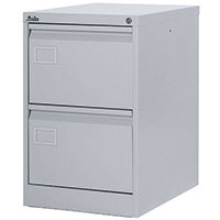 Filing Cabinet Exec Light Grey Steel HxWxD: 711x458x622mm