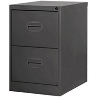 Filing Cabinet Kontrax Black Steel HxWxD: 711x458x622mm