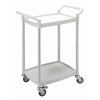 Mini 2 Shelf Service Cart White