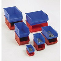 Topstore Containers  Tc3 Red Pack Of 10