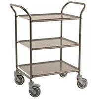Three Tier Metal Service Trolley Anthracite Grey