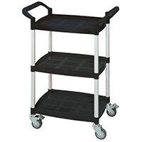 Mini 3 Shelf Service Cart Black