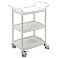 Mini 3 Shelf Service Cart White