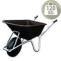 Black Plastic Bodied Wheelbarrow Capacity 120kg SY389493