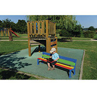 Silaos Nursery Seat -Multi-Colour Pefc Certified Timber Lacquered In