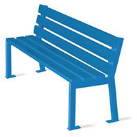 Silaos Nursery Seat  Single Colour Blue Pefc Certified Timber & Cast Steel Structure Finished In Ral 5010