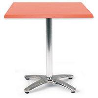 Spectrum Square Table 700X700mm Tilt Top Orange