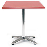 Spectrum Square Table 700X700mm Dark Red