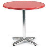 Spectrum Circular Table 700mm Dia Tilt Top Dark Red