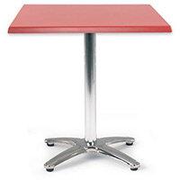 Spectrum Square Table 700X700mm Tilt Top Dark Red