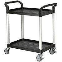 Standard 2 Shelf Service Cart Open Sided Cart