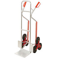 Aluminium stairclimbing Sack Truck with Glides - Capacity 150kg, on stairs 60kg