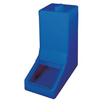 Table Top Storage And Dispense Container Complete With Top Lid And Flap. Fill From The Top Blue