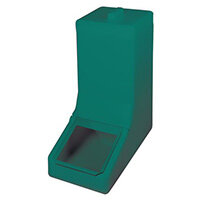 Table Top Storage And Dispense Container Complete With Top Lid And Flap. Fill From The Top Green