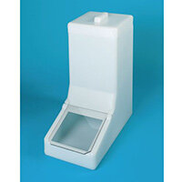 Table Top Storage And Dispense Container Complete With Top Lid And Flap. Fill From The Top Natural