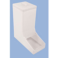 Table Top Dispense Bin With Clear Flap And Top Lid Allowing It To Be Filled From The Top Natural