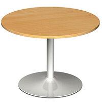 1000 Dia Circular Trumpet Base Boardroom Table 25mm Top Beech