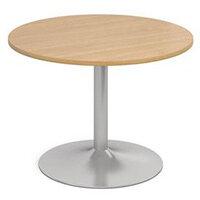 1000 Dia Circular Trumpet Base Boardroom Table 25mm Top L/Oak