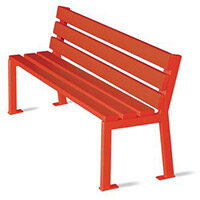 Silaos Nursery Seat Single Colour Red Pefc Certified Timber & Cast Steel Structure Finished I
