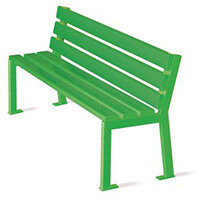 Silaos Nursery Seat Single Colour Green Pefc Certified Timber & Cast Steel Structure Finished I