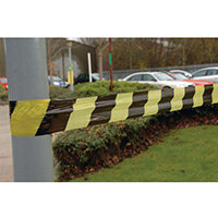 Black And Yellow Non-Adhesive Barrier Tape 25Mu