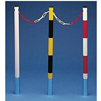 Steel Boundary Post To Be Sealed / Pair 100Cm Yellow/Black