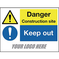 4mm Correx 600x400mm 400x300mm Construction Site Safety Signs