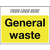 Sign General Waste 600X400mm 4mm Correx