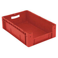 Xl Container 600x400x170 mm (Lxwxh). Solid Sides. Pick Open Front. Red