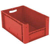 Xl Container 600x400x270 mm (Lxwxh). Solid Sides. Pick Open Front. Red