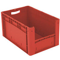 Xl Container 600x400x320 mm (Lxwxh). Solid Sides. Pick Open Front. Red
