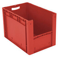 Xl Container 600x400x420 mm (Lxwxh). Solid Sides. Pick Open Front. Red