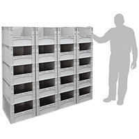 Basicline 600X400X270mm Open End Euro Container