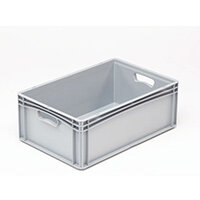 Basicline 600X400X220mm Solid Sides And Base With Hand Holes