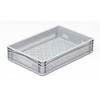 Basicline 600X400X120mm Ventilated Sides And Base With Hand Grips
