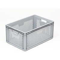 Basicline 600X400X270mm Ventilated Sides And Base With Hand Holes