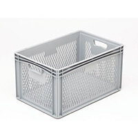 Basicline 600X400X320mm Ventilated Sides And Base With Hand Holes