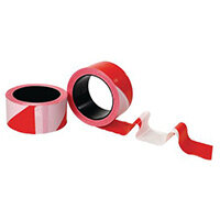 Tape Roll 50mmx100 Meters Red/White