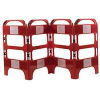 4 Gate Workgate Red Manhole Barrier Sets