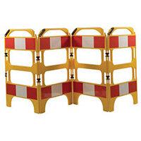 4 Gate Workgate Yellow Manhole Barrier Sets